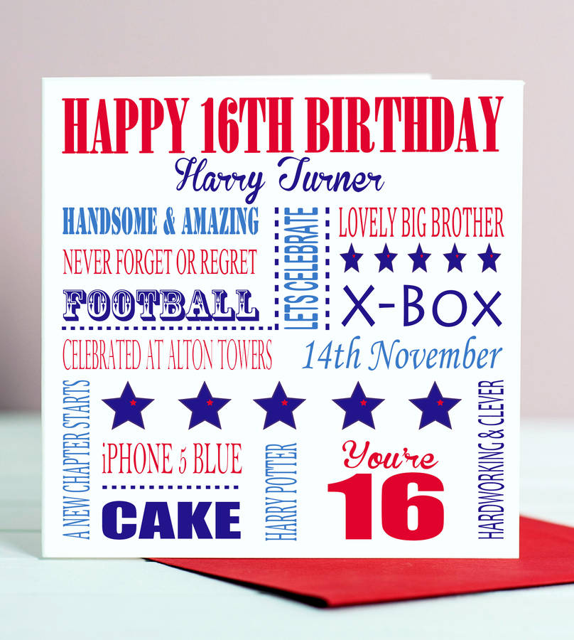 birthday posters for him ; original_personalised-aged-16-birthday-card-for-him