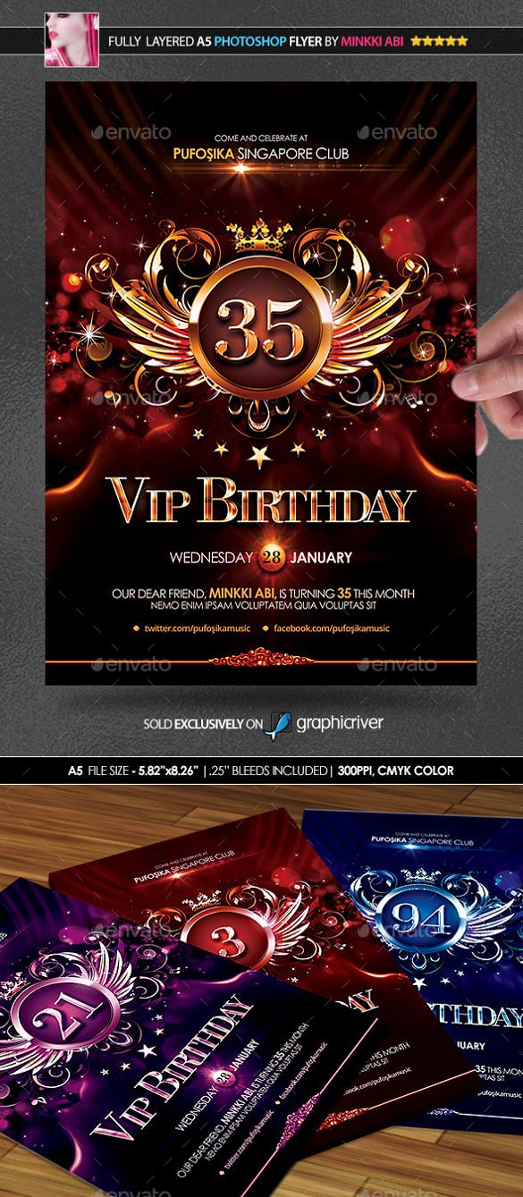birthday posters free download ; Classic-Birthday-Poster-Sample-Template