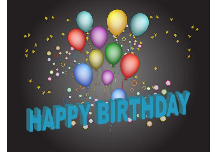 birthday posters free download ; vector-birthday-poster