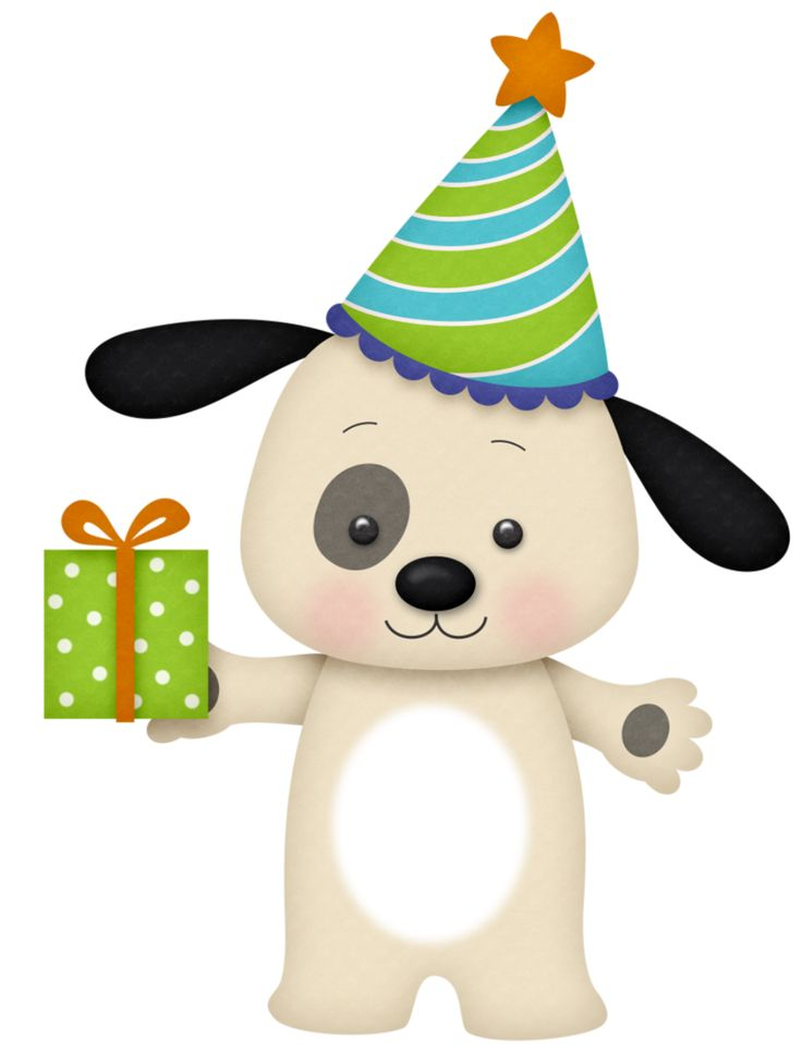 birthday puppy clipart ; 779bf3a621bd82769f5cd8d2e0badefc--birthday-clipart-art-birthday