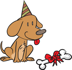 birthday puppy clipart ; clipart_illutration_of_a_dog_celebrating_its_birthday_0527-1511-0407-4956_SMU