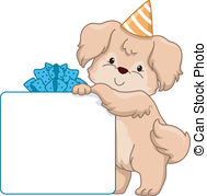 birthday puppy clipart ; dog-birthday-gift-board-board-illustration-featuring-a-dog-leaning-against-a-gift-box-eps-vectors_csp20964636