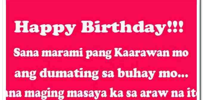 birthday sweet message tagalog ; birthday-message-for-friend-funny-tagalog