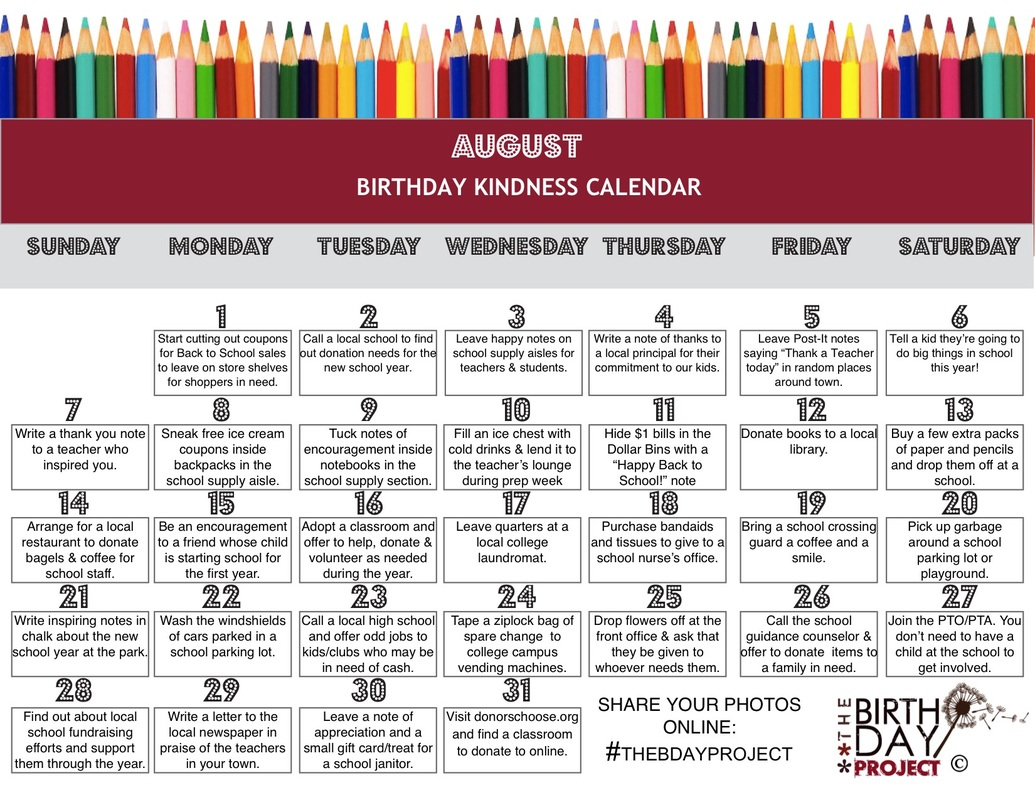 birthday tag calendar ; august-kindness-calendar_orig