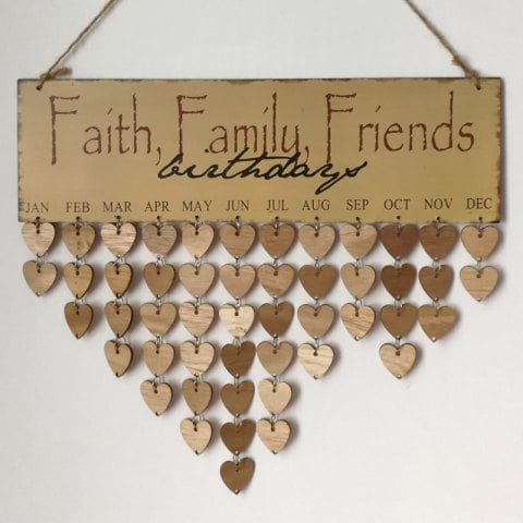 birthday tag calendar ; birthday-calendar-wooden-gray-diy-wooden-faith-family-and-friends-birthday-calendar-board