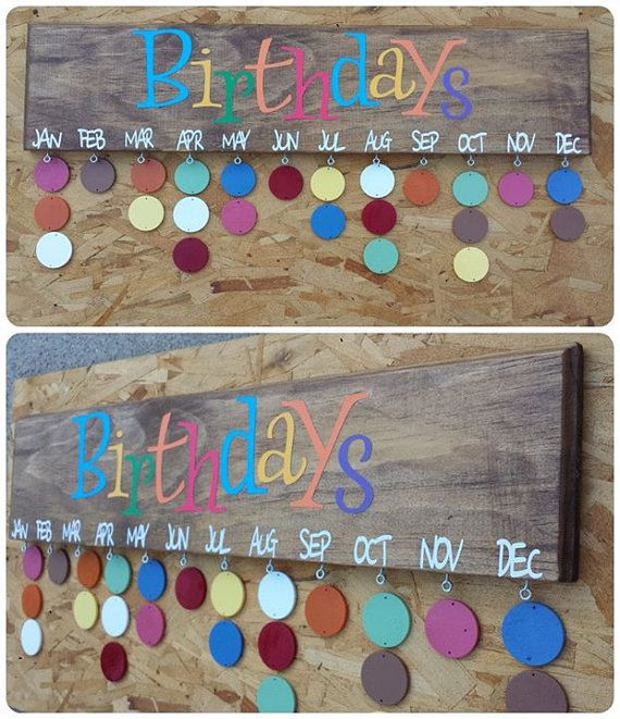 birthday tag calendar ; how-to-make-a-birthday-calendar-25-unique-birthday-calendar-ideas-on-pinterest-birthday
