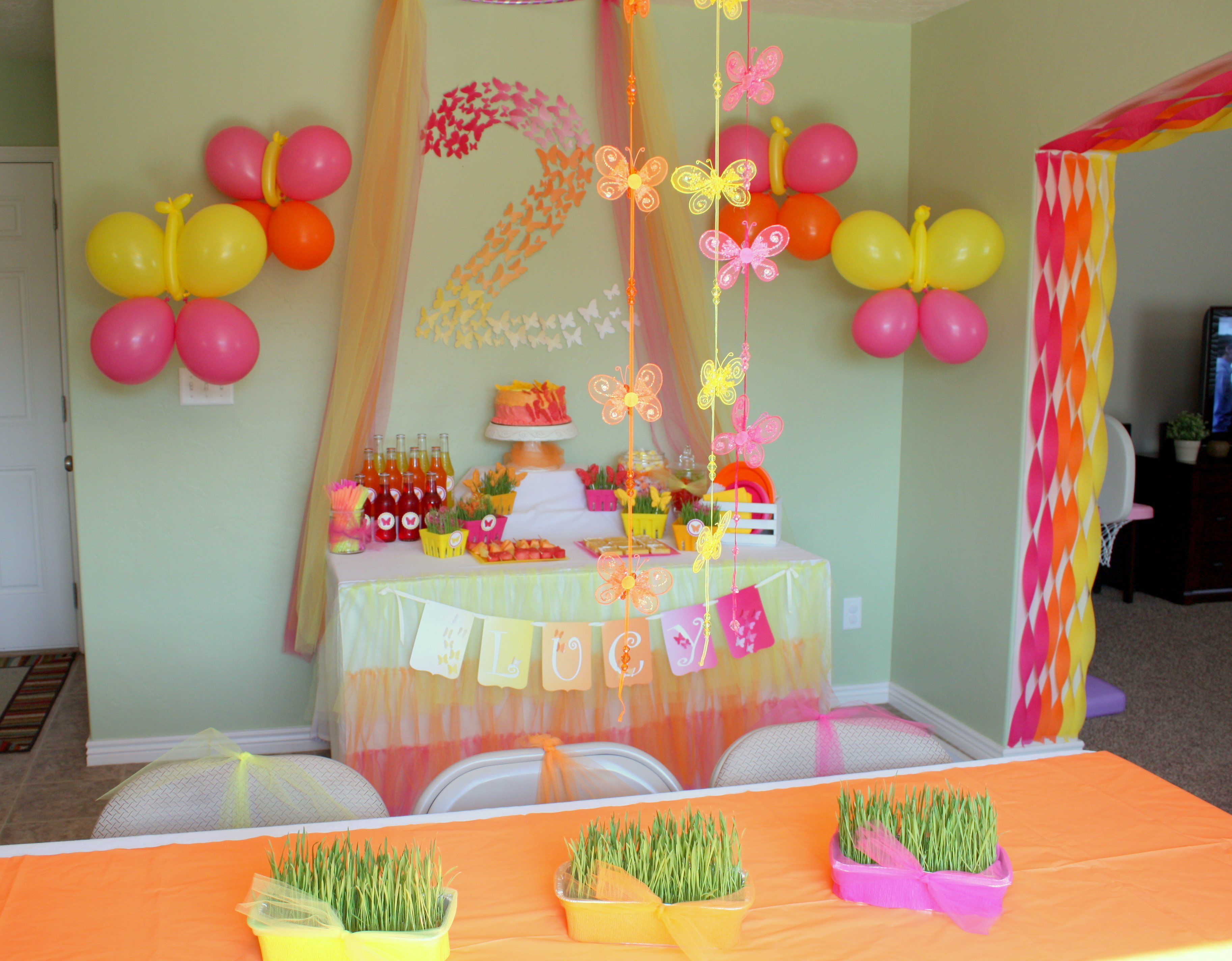 birthday theme decoration ideas ; Butterfly-Themed-Party-Decorations-eventstocelebrate