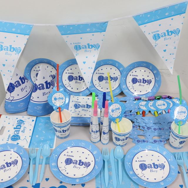 birthday theme party for baby boy ; Wholesale-1pack-45pcs-Cartoon-baby-boy-kids-1st-Birthday-Theme-Party-Supplies-Kids-Party-Decoration-supplies