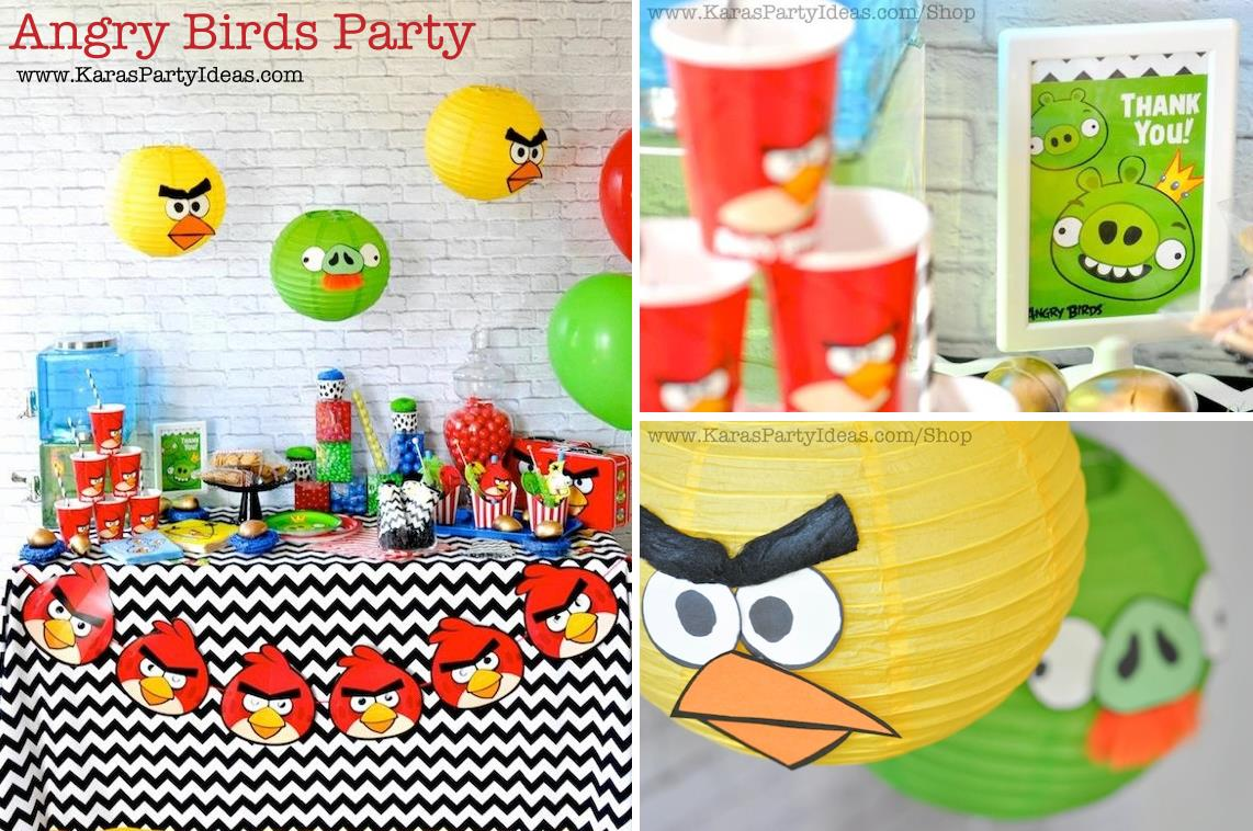 birthday themes and ideas ; Angry-Birds-themed-birthday-party-via-Karas-Party-Ideas-karaspartyideas