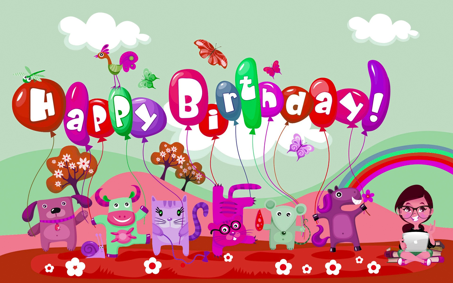 birthday wallpaper for baby ; Kids-and-baby-birthday-wishes-wallpaper
