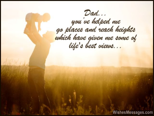 birthday wish to a son from father ; Sweet-message-for-dad-lifting-up-his-daughter-640x480