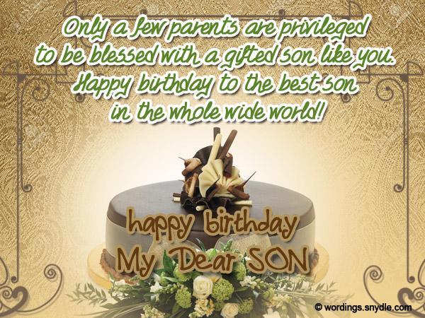 birthday wish to a son from father ; birthday-messages-for-son