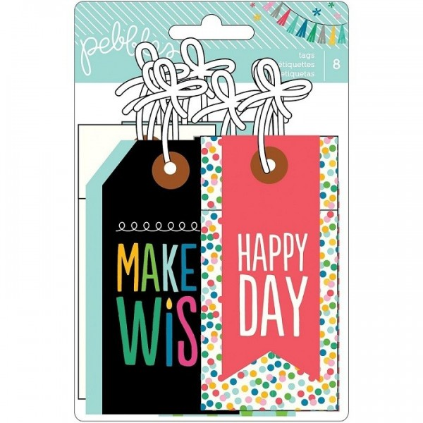 birthday wishes tags ; Birthday-Wishes-Cardstock-Tags-8-Pkg