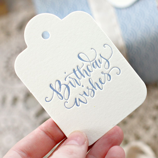 birthday wishes tags ; Letterpress-Brithday-Wishes-Gift-Tag-1