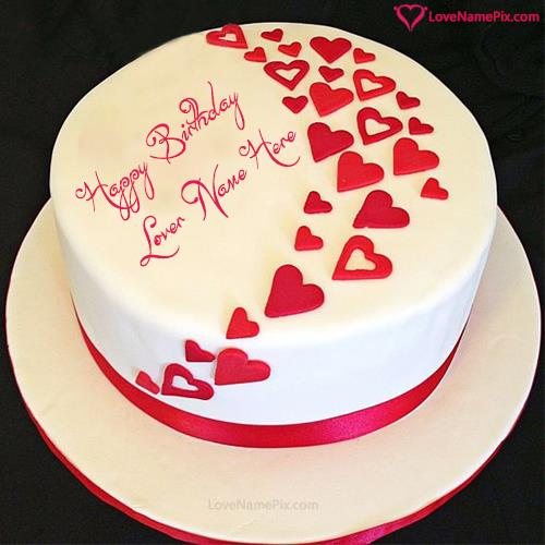 birthday wishes with photo and name editor ; birthday-wishes-cake-for-lovers-love-name-pix-9bbe