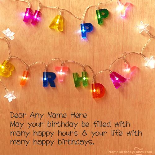 Birthday Wishes With Photo And Name Editor