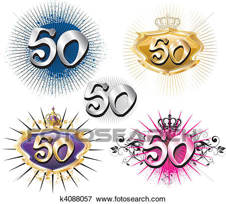 birthdays and anniversaries clipart ; 50th-birthday-or-anniversary-clip-art__k4088057