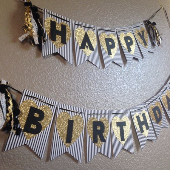 black and gold birthday banner ; 4273eaeea369790ef17e41f12cb2036d