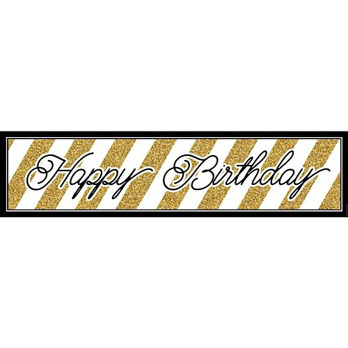 black and gold birthday banner ; product_103395_1_orig