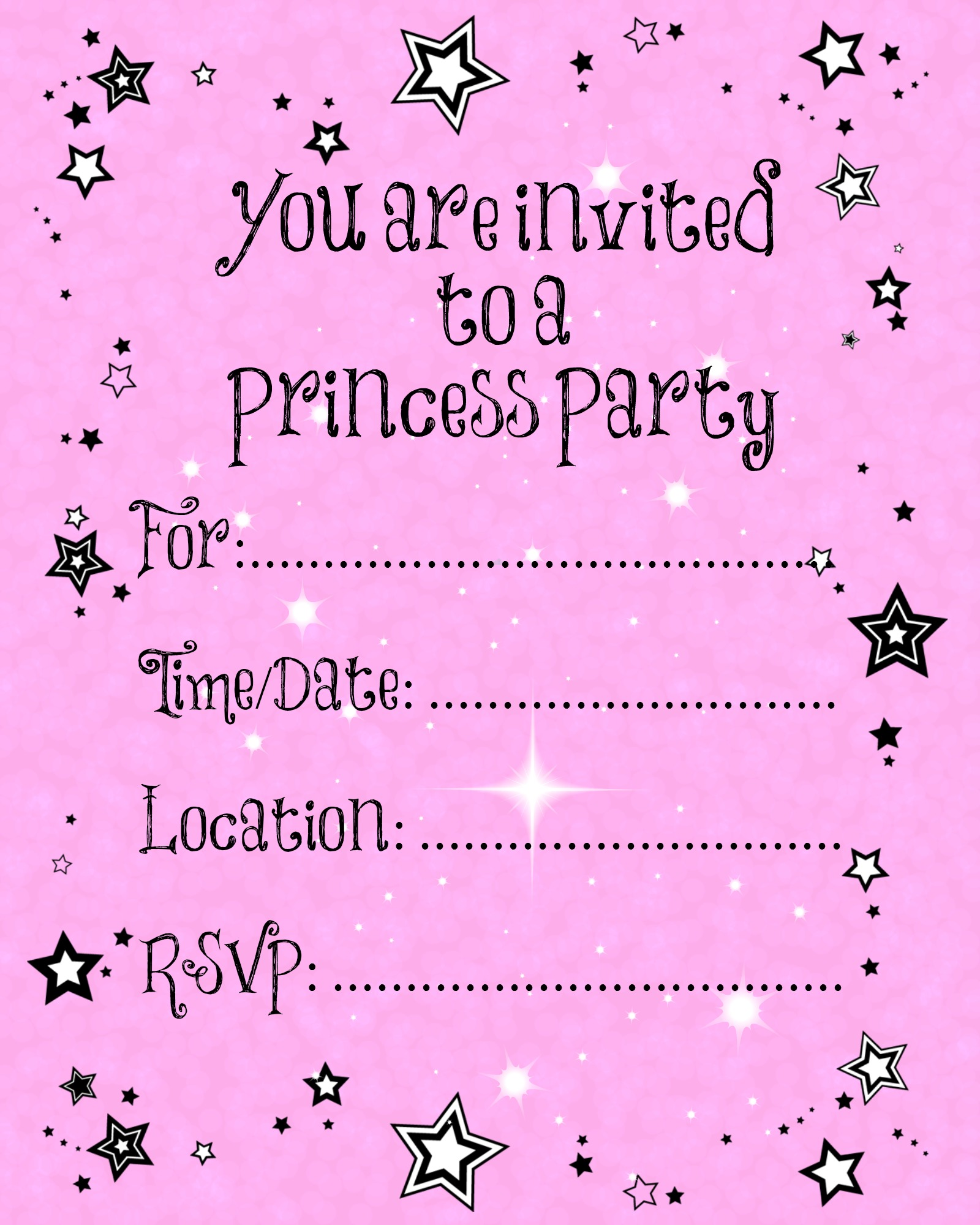 blank birthday card maker free printable ; princess-party-invitations-to-create-your-own-remarkable-Party-invitation-design-ihl16