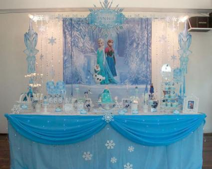 blue color themed birthday party ; 182823-425x340-Disney-Frozen-Birthday-Party