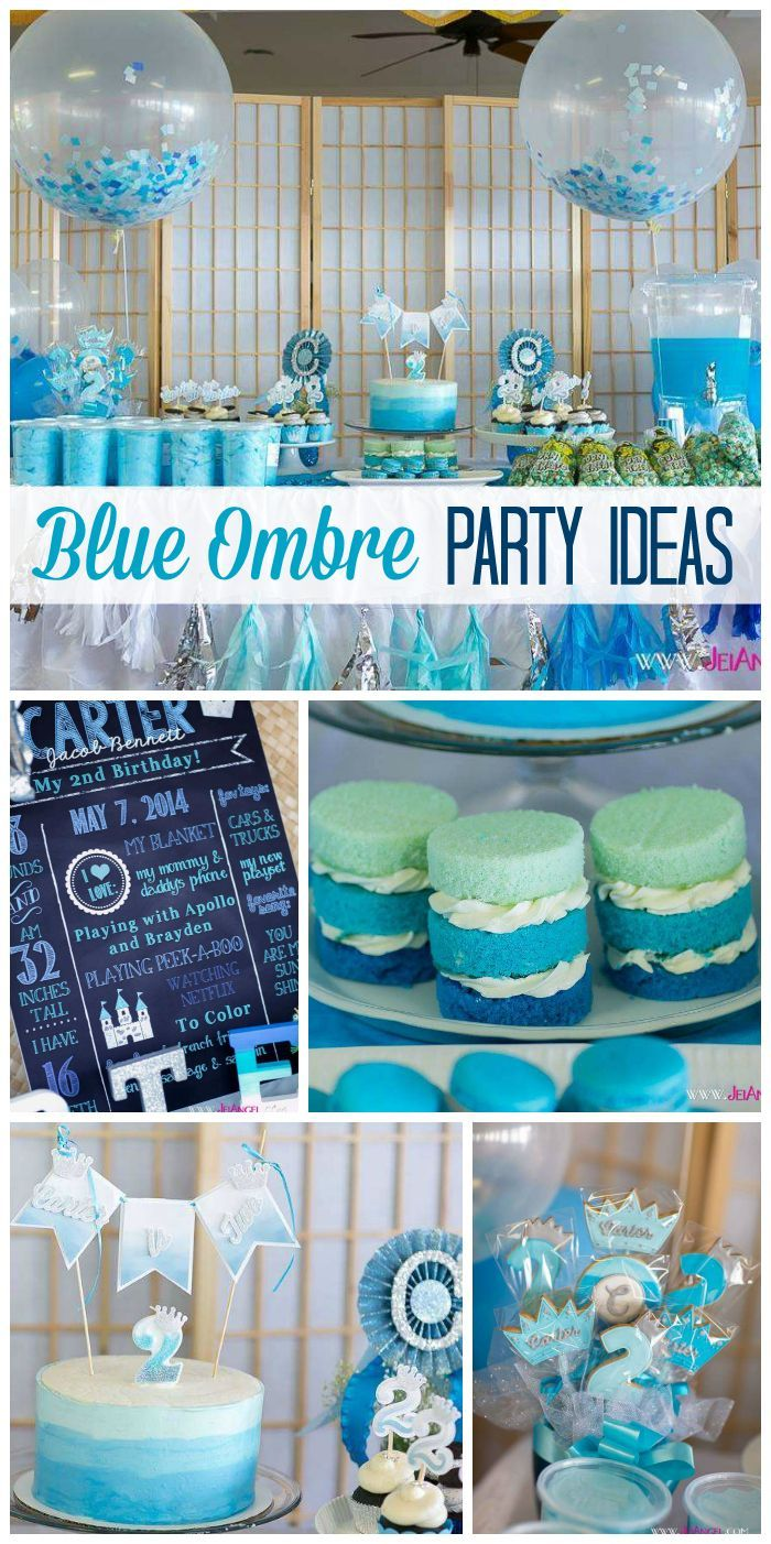blue color themed birthday party ; 2bcd2582cd4c4c8dff1be76f725405bb