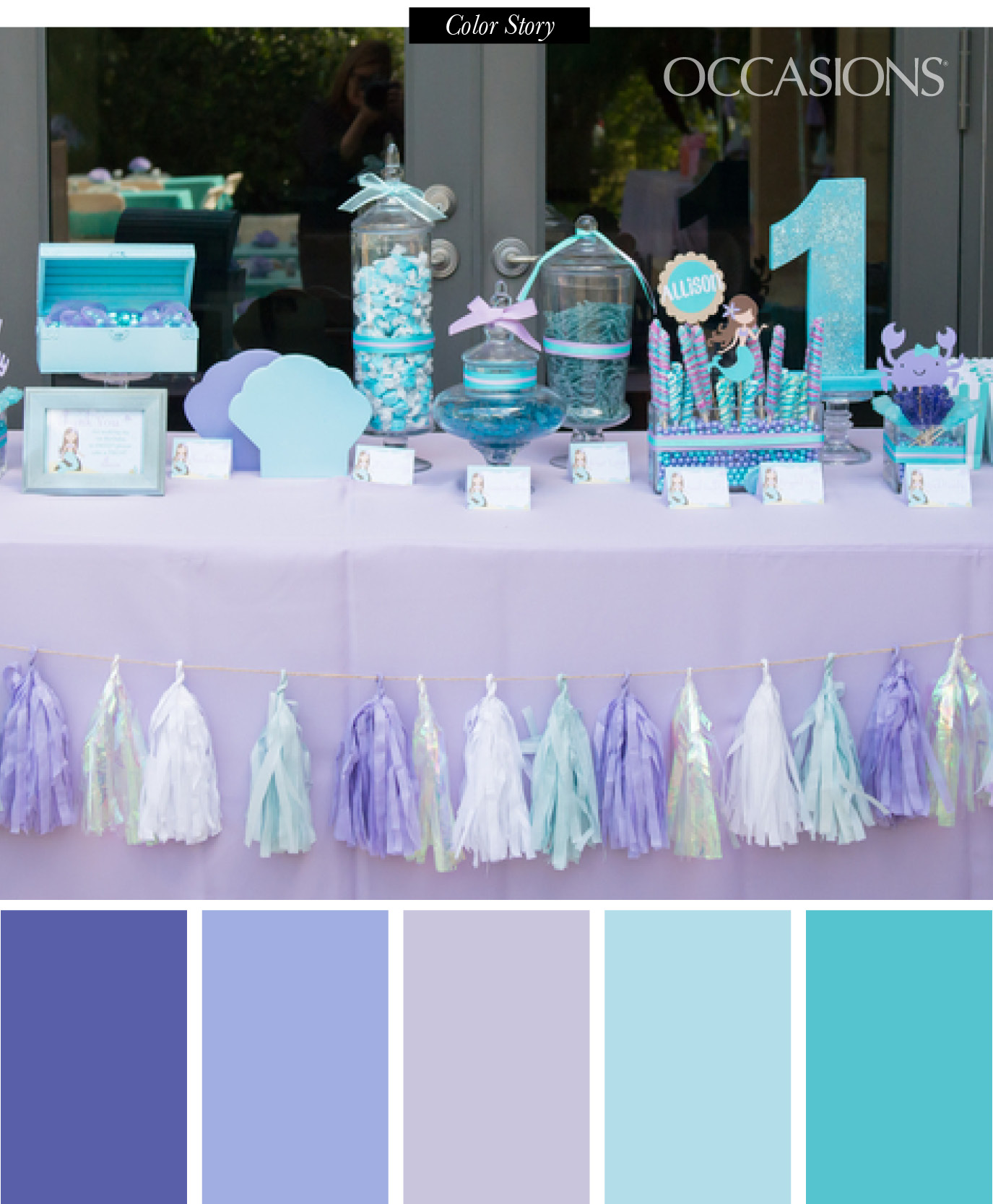 blue color themed birthday party ; Color-Story6