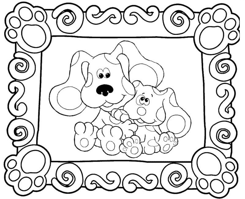 blues clues birthday coloring pages ; 93841f7d31683bbaaa58f502cf017a71