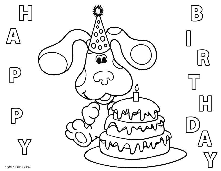 blues clues birthday coloring pages ; Blues-Clues-Birthday-Coloring-Pages