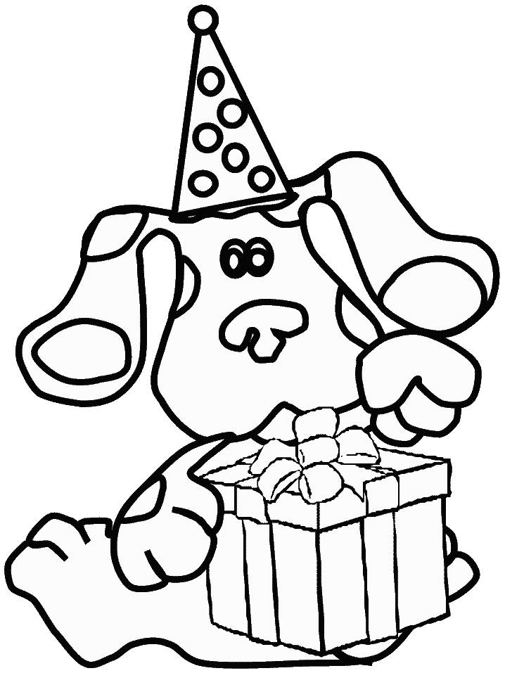 blues clues birthday coloring pages ; Blues-Clues-Colouring-Page