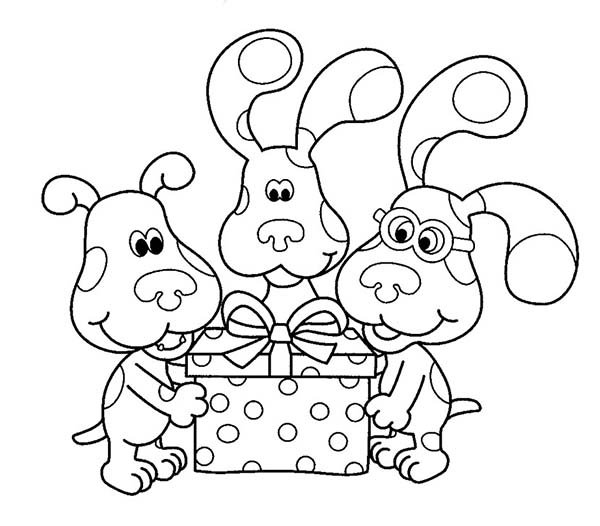 blues clues birthday coloring pages ; Blues-Clues-and-Friends-Open-a-Birthday-Present-Coloring-Page