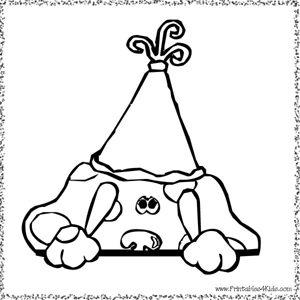 blues clues birthday coloring pages ; blues-clues-birthday
