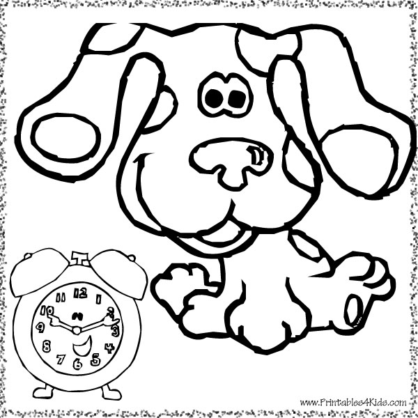 blues clues birthday coloring pages ; blues-clues-clock