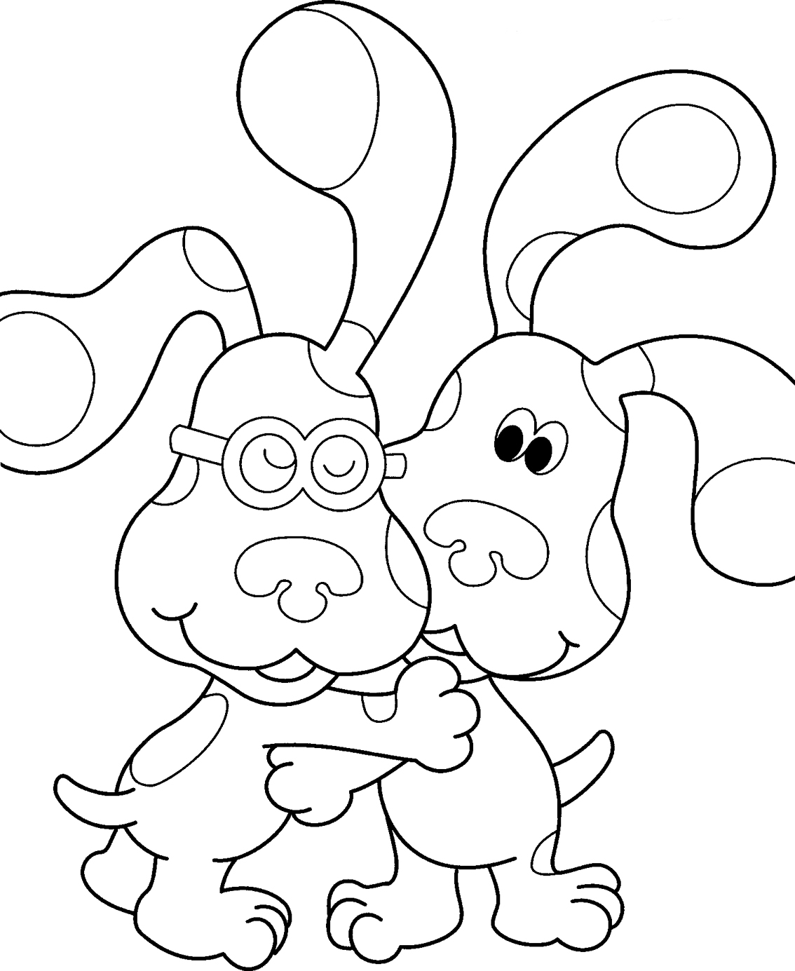 blues clues birthday coloring pages ; blues-clues-coloring-pages-blue-s-page-for-kids