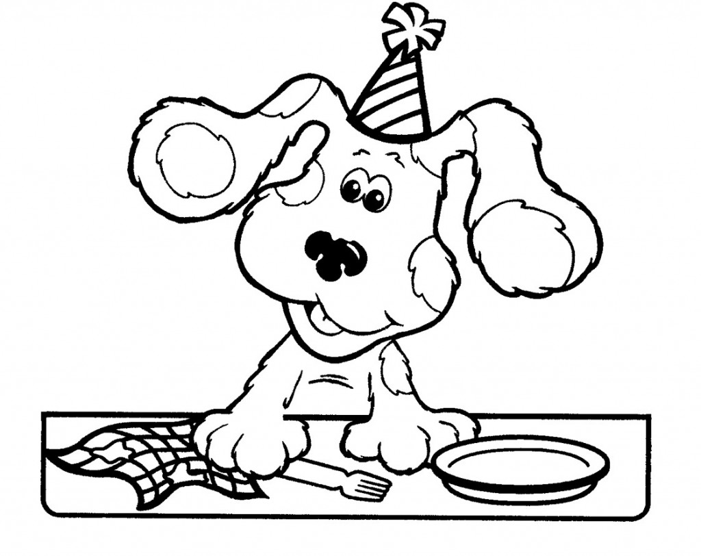 blues clues birthday coloring pages ; blues-clues-coloring-pages