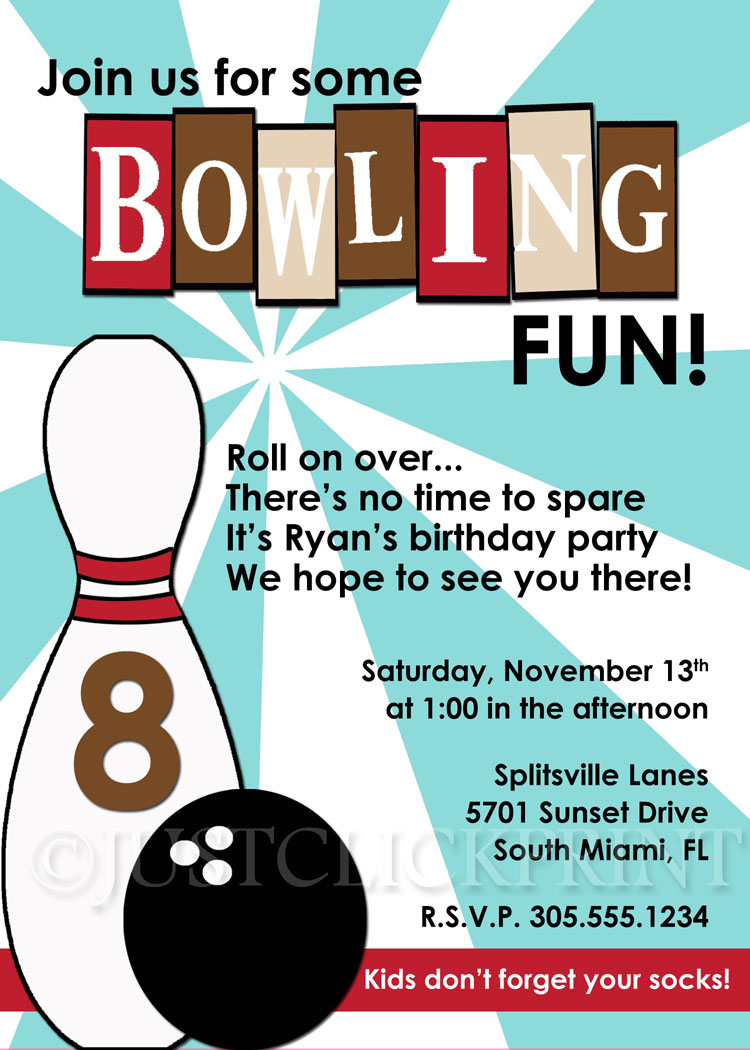 bowling birthday clipart ; BowlingFun2_original