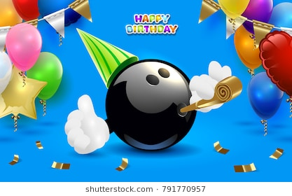 bowling birthday clipart ; bowling-happy-birthday-party-vector-260nw-791770957