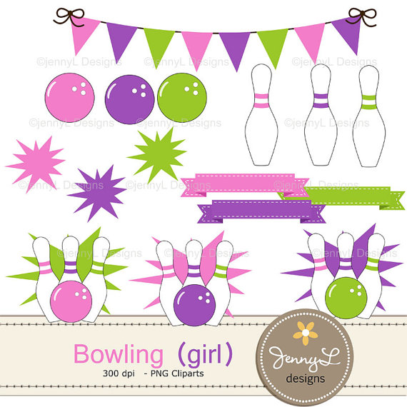bowling birthday clipart ; il_570xN