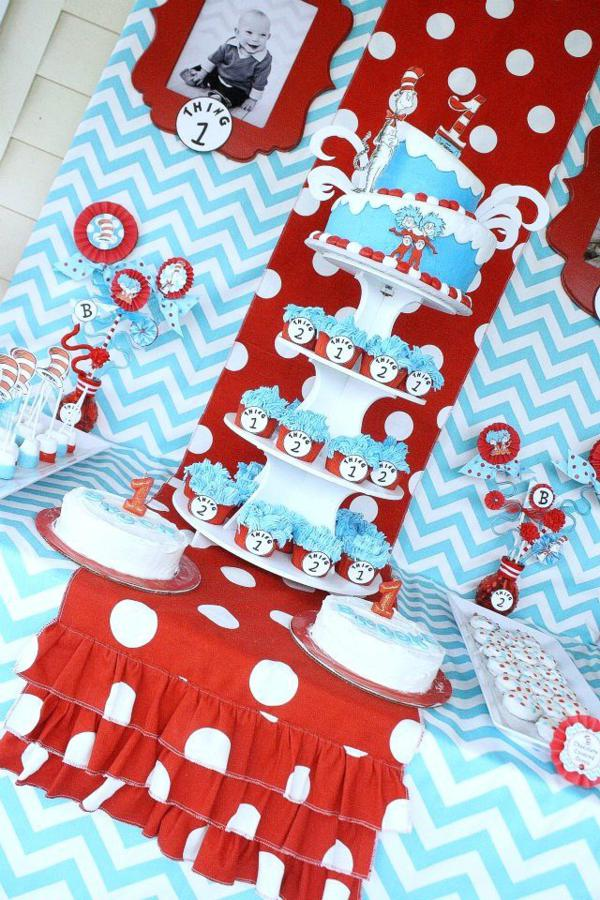 boy and girl birthday party themes ; Thing-1-and-Thing-Two-Twins-Party