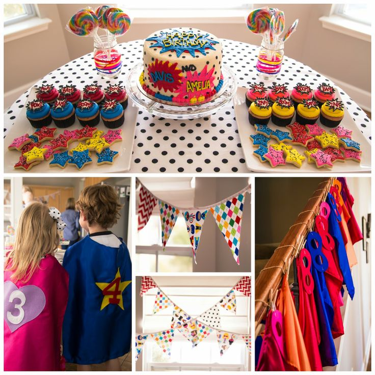 boy and girl birthday party themes ; pirate-and-princess-theme-party
