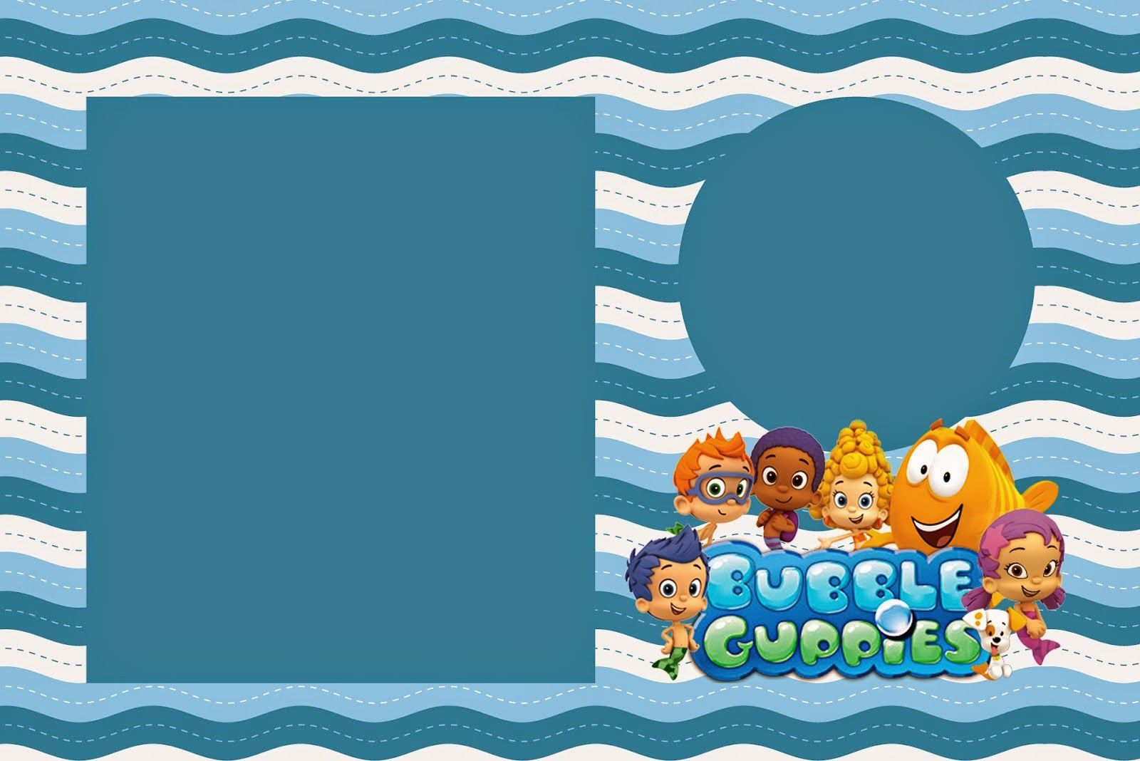 bubble guppies birthday invitation template ; 1d1ed5ff9ba7e864d317309a84454892