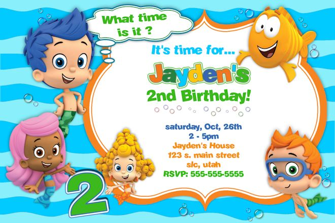 bubble guppies birthday invitation template ; 2nd-Bubble-Guppies-Birthday-Invitations