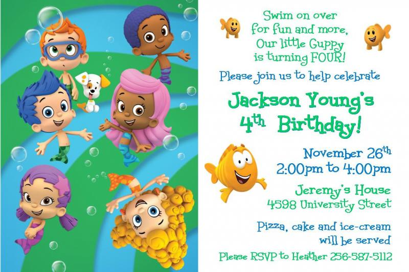 bubble guppies birthday invitation template ; 4th-Bubble-Guppies-Birthday-Invitations