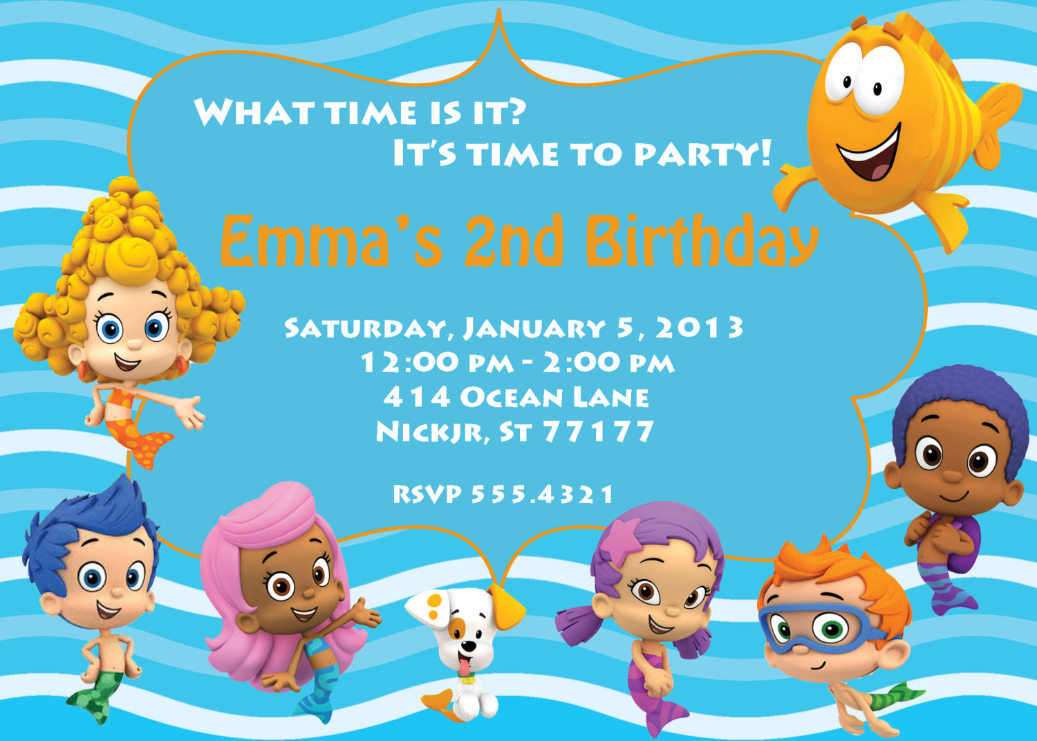 bubble guppies birthday invitation template ; bubble-guppies-birthday-invitations-including-exceptional-Birthday-Invitation-Templates-with-full-of-pleasure-environment-20