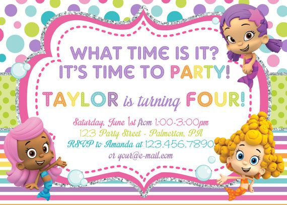 bubble guppies birthday invitation template ; bubble-guppies-rainbow-birthday-invitation-or-thank-you-card-on-etsy-10-00_party-images-guppy-birthdays-and-bubbl-on-bubble-guppies-invitations