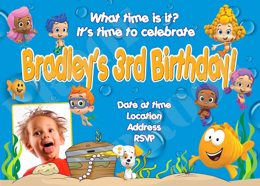bubble guppies birthday invitation template ; bubbleguppiesINV