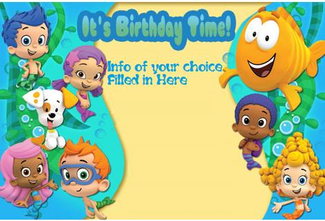 bubble guppies birthday invitation template ; f78a9f77e3bdc61f42acb3de89828f35
