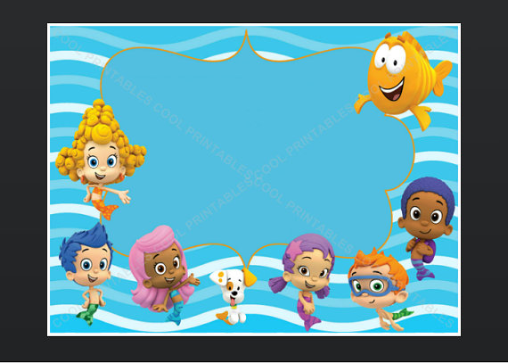 bubble guppies birthday invitation template ; fb897098f8d148dca1833c94782f0c2f