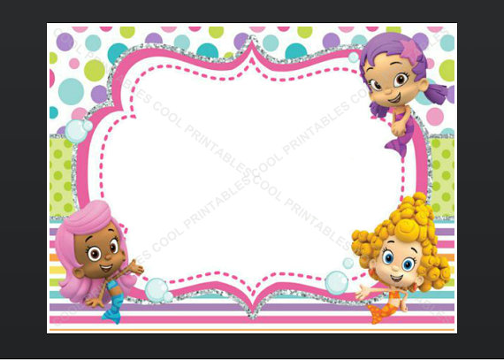 bubble guppies birthday invitation template ; il_570xN