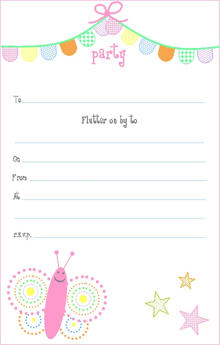 butterfly birthday invitations printable ; Butterfly+invitation
